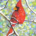 Majestic Red Cardinal by MSRowe Art and Design
