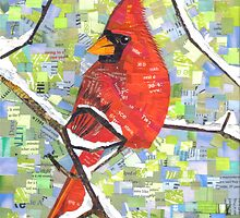 Majestic Red Cardinal by SRowe Art