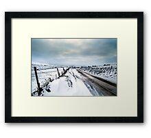A Snowy Journey Framed Print