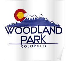 Woodland Park Colorado wood mountains Poster