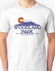 Woodland Park Colorado wood mountains T-Shirt