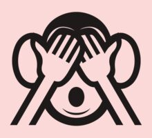 3 Wise Monkeys Mizaru 見ざる See NO Evil Emoji Kids Tee