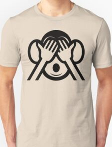3 Wise Monkeys Mizaru 見ざる See NO Evil Emoji T-Shirt