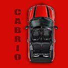 Mini Cooper Cabrio iPad Case Red by davidkyte