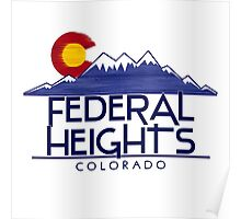 Federal Heights Colorado wood mountains Poster