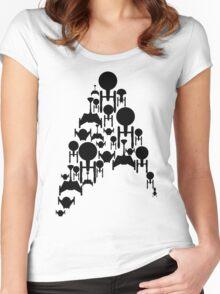 Ships Trek (Black Version) Women's Fitted Scoop T-Shirt