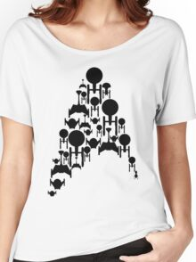 Ships Trek (Black Version) Women's Relaxed Fit T-Shirt
