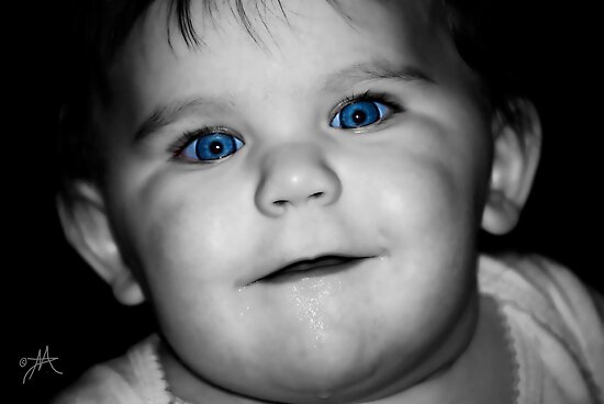 Those Beautiful Blue Eyes by Pat Moore
