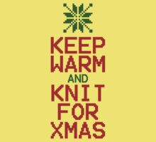 Keep Warm and Knit for Xmas Kids Tee