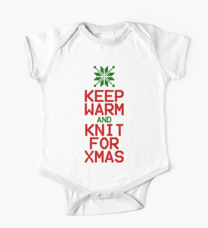Keep Warm and Knit for Xmas One Piece - Short Sleeve