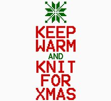 Keep Warm and Knit for Xmas Womens Fitted T-Shirt