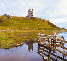 Dunstanburgh Castle Through the Gate by James  Key