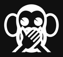 3 Wise Monkeys Iwazaru 言わざる Speak NO Evil Emoji Kids Tee