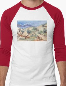 My Aloe route Men's Baseball ¾ T-Shirt