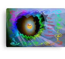 Moony Over You..valentine card Canvas Print