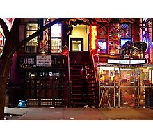 Night Lights - East Village - New York City Photographic Print