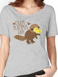Crazy Platypus lady Women's Relaxed Fit T-Shirt