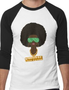 Natural Hair Men's Baseball ¾ T-Shirt
