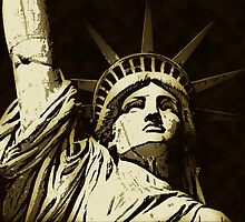 STATUE OF LIBERTY-LIBERTY ISLAND COLOUR by OTIS PORRITT