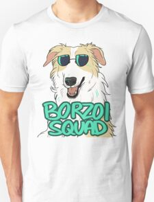 BORZOI SQUAD (WHITE AND LIGHT RED) T-Shirt
