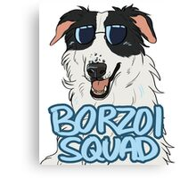 BORZOI SQUAD (WHITE AND BLACK) Canvas Print