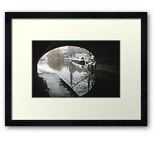Wintery Regents Canal Framed Print