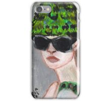 Woman Wearing Summer Hat(& Shades) iPhone Case/Skin