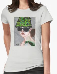 Woman Wearing Summer Hat(& Shades) Womens Fitted T-Shirt