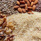 Nuts and Seeds... Brown Edible Plants And Nuts...top ten winner by Diane Arndt