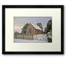 St Mary Burham In The Snow Framed Print