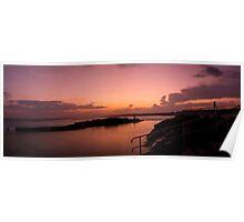 Rockpool sunset Poster