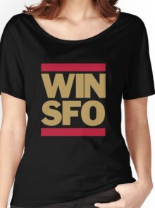 San Francisco 49ers WIN SFO (adult size) Women's Relaxed Fit T-Shirt