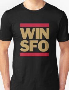 San Francisco 49ers WIN SFO (adult size) Unisex T-Shirt