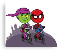 Green Goblin & Spidey Canvas Print