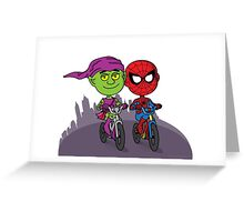 Green Goblin & Spidey Greeting Card