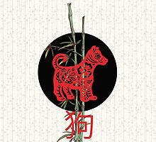 Dog (chinese zodiac) by Paula Belle Flores