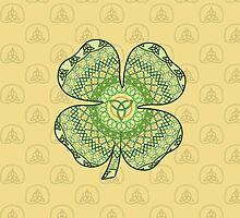Celtic Shamrock by Valerie Hartley Bennett