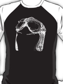 Dotwork Retro Aviator Goggles White! T-Shirt