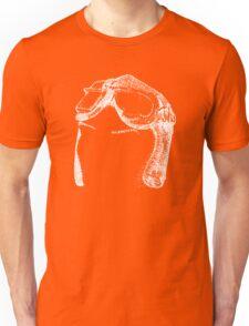 Dotwork Retro Aviator Goggles White! Unisex T-Shirt