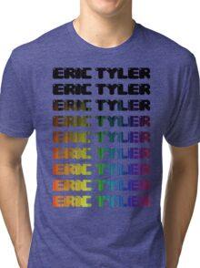 Eric Tyler Retro Rainbow Tri-blend T-Shirt