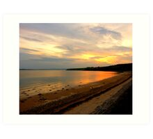 Just A Beach At Twilight Art Print