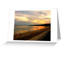 Just A Beach At Twilight Greeting Card