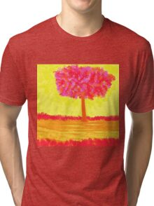 Pink Tree in Blossom Tri-blend T-Shirt
