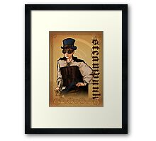 Steampunk Lady Framed Print