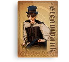 Steampunk Lady Metal Print