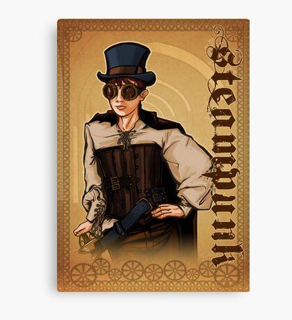 Steampunk Lady Canvas Print