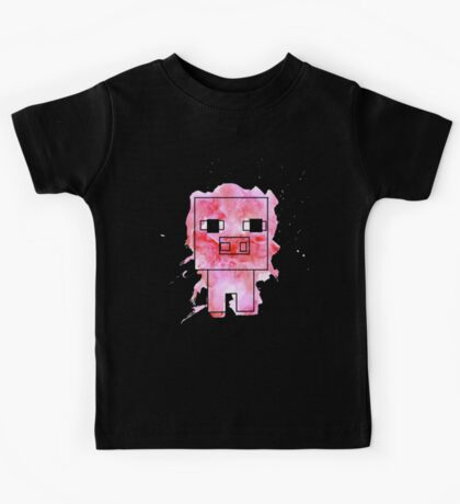 Splatter Pig - Minecraft inspired Kids Tee