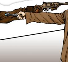 Captain Reynolds vs The Doctor Sticker
