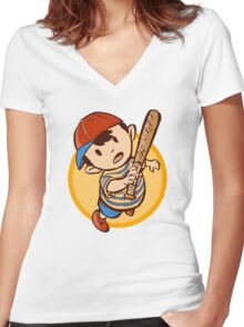 PK FIRE! Women's Fitted V-Neck T-Shirt