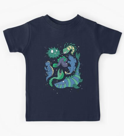 Deep sea monsters -coloured Kids Tee